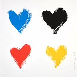 All You Need is He(ART) Small by Mr. Brainwash - Silk Screen Edition sized 18x18 inches. Available from Whitewall Galleries