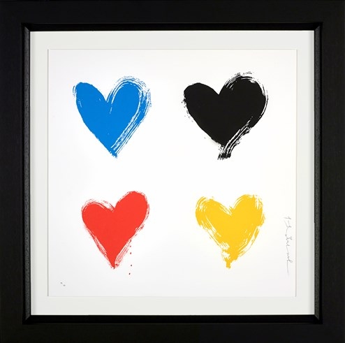 All You Need is He(ART) Small by Mr. Brainwash - Framed Silk Screen Edition